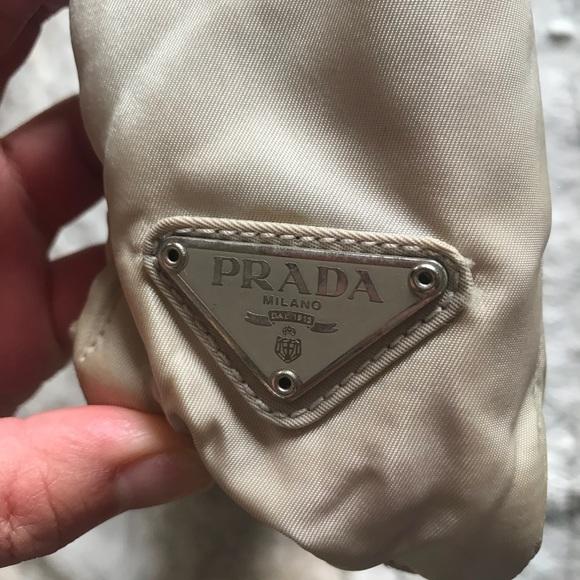 42ffeb64983d2b Cute little white Prada shoulder bag! Elegant ❤ . M_5ba08a5474359b8493f8817a